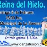 "Re-estreno de ""La Reina Del Hielo""❄️ Domingo 8 de Febrero #LaSerena @jennycarmona10 @Trijaval_Chile @Senderosmusic http://t.co/YsDEOw1AV0"