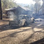 #EMERGENCYWARNING in place for residents in #Waroona townsite - fire fighters say 3 homes have been lost @9NewsPerth http://t.co/S5WMlvQb1q