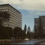 COUNCIL HOUSE & ST GEORGES TCE, 1965 - Looking west, with T&G building. #Perth @7newsperth @Perth_Today @PICA_Perth http://t.co/WkF2niNqgQ