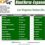 #KentuckyOaks clasificatoria en @santaanitapark Las Vírgenes Stakes (Gr I) $300,000 en 1,600 metros. Potras de 3 años http://t.co/KMWclz5XAi