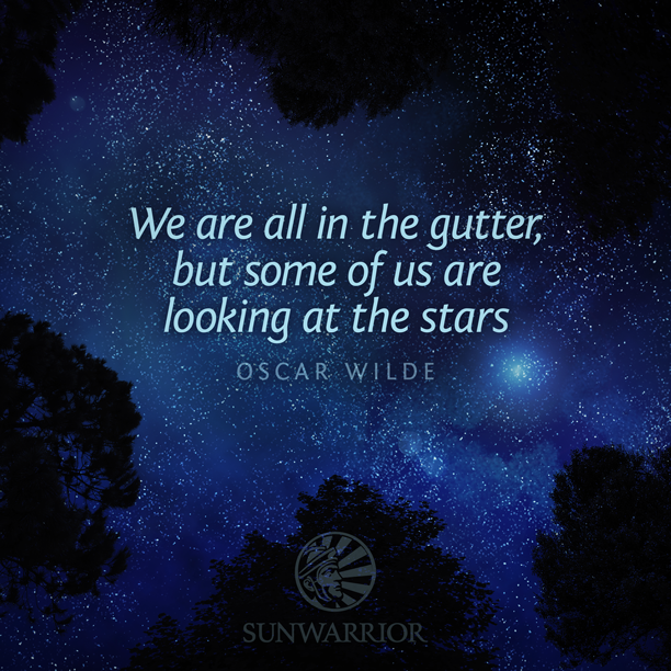 """We are all in the gutter, but some of us are looking at the stars."" - Oscar Wilde #positive #attitude http://t.co/chOyFaTaFX"