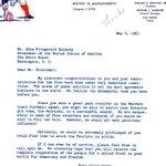 Boston (now New England) Patriots invite JFK 1961 to join the team--via @JFKLibrary http://t.co/unFcwHbjwe