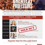 Thank you #SWFL @ndn @onedayu is SOLD OUT! Feb. 8 @HiltonNaples thought-provoking talks #Psychology #Health #Film #FL http://t.co/Gk2CHjMXy9