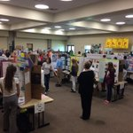 Let the Collier Regional Science Fair judging begin! @collierschools @CollierScience #STEMCollier http://t.co/hUJTjTyOW8