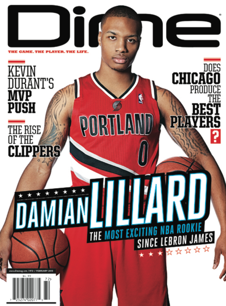 Proud to say @DimeMag gave @Dame_Lillard his first magazine cover back in the day. He deserved it. Motivation. http://t.co/SyI7ErNni8