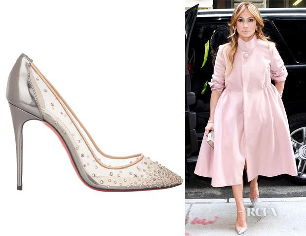 knockoff christian louboutin shoes - Jennifer lopez's christian louboutin crystal-embellished follies ...