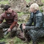 .@daniel_portman as Podrick Payne and @lovegwendoline as Brienne of Tarth in #GoTSeason5. http://t.co/1bpjAHm9MA