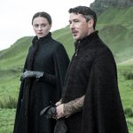 .@SophieT as Sansa Stark and Aidan Gillen as Littlefinger in #GoTSeason5. http://t.co/XUuB7EKON9