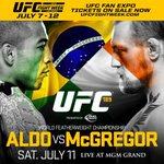 Get booking! Conor McGregor's title fight with Jose Aldo will be on 11 July http://t.co/1fnHItDdb7 #NOTORIOUS http://t.co/gABGy4XYvN