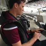 My mate @Tim_Ashworth bringing #fashion back to rugby league. Such sleeveless. Very maroon. Wow. #NRLAKL9s http://t.co/tkrKHJi4ys