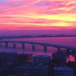 Awesome sunset over the #Bay Area looking from #SNNTV SkyCam over #Sarasota on a Friday. #flwx http://t.co/DJiniRBtYY