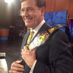 Check out the belt! @jbirchwmc gearing up for Grizzlies and Wrestling @wmcactionnews5 at 6:00! http://t.co/TNEPhYCFNu