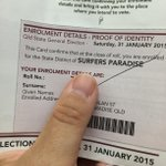 This is all you need to present when voting. No other ID is needed if you have this with you #QldVotes http://t.co/aSrFhRCJe5