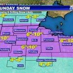 """SNOW TIMELINE: Sat 10pm-Sun 2am:  Snow Begins Sun 2am-Sun 8pm:  Snow Sun 8pm-Sun 11pm:  Snow Ends SNOW TOTAL: 6-10"""" http://t.co/rr27SuaTN1"""