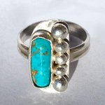 #Turquoise #Ring Set In A #Unique #Sterling #Silver #Setting http://t.co/qYFaskra4w  #tribal #gift #jewelry http://t.co/mGg0lWT7KB