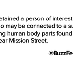 Person Of Interest Detained In San Francisco Body Parts Case http://t.co/mqKxCjYlLf http://t.co/4xoyvDBUnK