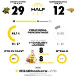 HALFTIME: Shockers - 29, Panthers - 12. #WATCHUS http://t.co/kVByz2AaWz