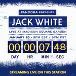 Countdown to #JackWhiteLive from @TheGarden! http://t.co/RiUERMuXka http://t.co/FIePrAwzIZ