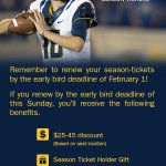 Happy Friday @CalFootball fans! save $ on the early bird discount. Deadline is Feb 1st for $25-$45* off your seats! http://t.co/MdPZCooB0s