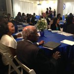 Dr. Charles Teamer watches his video tribute as honoree @ Hobley scholarship gala #geauxBleu #geauxDU http://t.co/4cmqs4YJ30