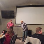 The end of an era & a new beginning. @bpadge passing the baton to @SStringer6. @redeemerlubbock #missions http://t.co/l1WSDRq9TP