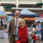 Mr and Mrs Faulty enjoying @CityofPerths Twilight Hawkers Market last night #FringeWorld #31daysofperthfect #Perth http://t.co/ZsMf2te63h