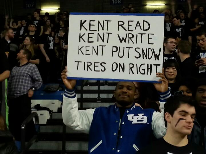 Sign of the night at Alumni Arena belongs UB RB @antiztaylormade. #neverforget @ScottWilsonBUF http://t.co/PrgwGGfICi