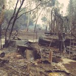 Veggie gardens and machinery gone in #Waroona fire. So far only 1 confirmed home destroyed. @7NewsPerth #fires http://t.co/QaFx0MEmB3