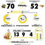 FINAL: Shockers - 70, Panthers - 52. #WATCHUS http://t.co/jFX1MG6bfu