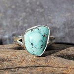 Light #Blue #Turquoise #Ring Set In #Sterling #Silver  http://t.co/BB0mLTOodW #Beautiful #Jewelry http://t.co/mCRxdUa6jl