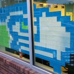 A @Seahawks logo. Made of post-it notes.  Because... 2 days to #SB49! (via @thinkspace)