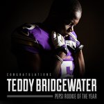 """""""@Vikings: Teddy Bridgewater is the Pepsi ROOKIE OF THE YEAR.  RT to congratulate him! http://t.co/vrVLmmhjG2 http://t.co/A40gsrxc2D"""" leggoo"""