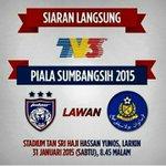 Jgn lupa saksikan perlawan SECARA LANGSUNG Piala Sumbangsih pertemuan antara JDT dan Pahang jam 830 malam ini di TV3. http://t.co/VH84zVjaNS