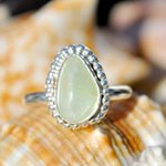 Lovely #Prehnite #Ring In A Traditional Style Sterling #Silver Setting http://t.co/tIQnfm4VXx  #jewelry #chic http://t.co/KPVKCadltp