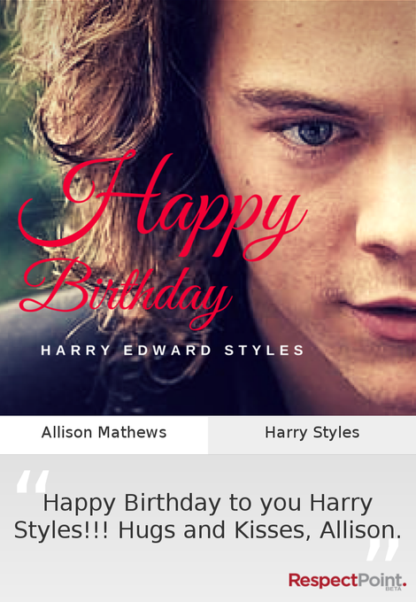 Happy Birthday to you Harry Styles!