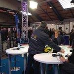 Le plateau de la Voix est libre Hall A au Wacken de Strasbourg. Emission spéciale Olympiades des Métiers à 11h28. http://t.co/B77e2XMixh