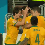 GOAL! Massimo Luongo scores a screamer from long range and puts the @Socceroos up 1-0 in the final. #9News http://t.co/2NdyH8bhoG