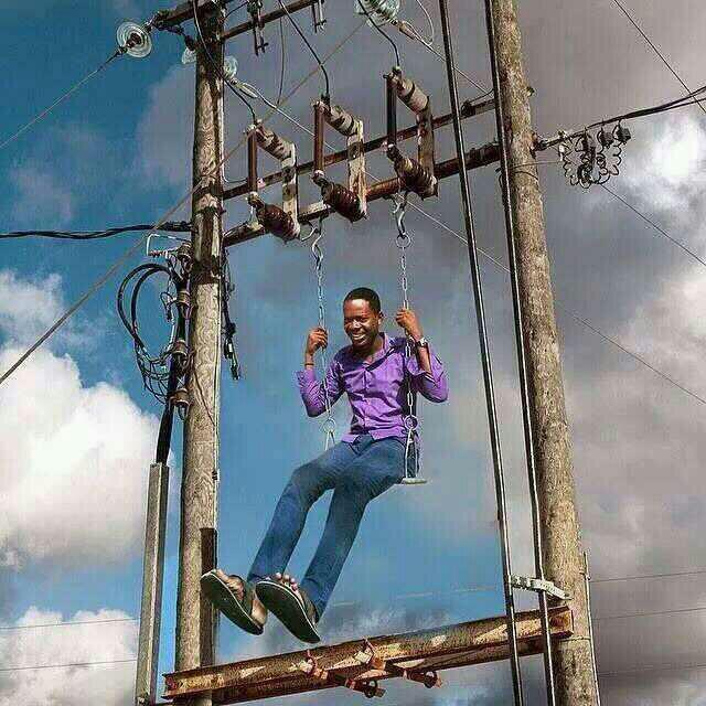 Everyday for idiot, one day for 220 volts RT @skuboye: The only use for ECG poles in my area http://t.co/BwYKkfVKY8