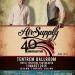 Mau dengar lagu-lagu Air Supply live? Yuk datang ke konser #AirSupplyJogja |  Info cek @RajawaliIndo http://t.co/URhBGQPWc7