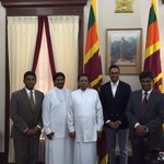 I had the honor of spending time with Sri Lankas new President and key cabinet. The country is poised for greatness. http://t.co/marCCuwIv2