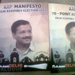 #DelhiElections: #AAP releases party manifesto for upcoming polls http://t.co/kgqubwkyEJ http://t.co/Y6MhHOu0Sk
