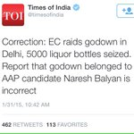 """""""@VishalDadlani: So why would a BJP-flunky need a godown full of booze on the day of Modis Delhi rally?"""" http://t.co/GVjLfC2N2B"""