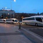 Llegando autocares, autocares, autocares y mas autocares a Madrid porque #EsAhora31E http://t.co/scWnJbWA5O