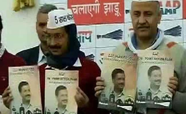 #DelhiPolls: Arvind Kejriwal releases AAP manifesto, promises women's safety, free wi-fi http://t.co/Rf6wX1oynq http://t.co/cm29kdTdqa