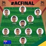 オーストラリア代表スターティングメンバー #ACFinal #AC2015 http://t.co/imbGxzLeMm