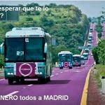 #YoVoy31E en esta caravana de autobuses a Madrid,en 2 horas estamos en Cibeles para dirigirnos a la Puerta del Sol http://t.co/iG28xzljy4