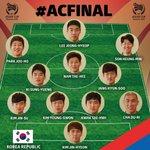 韓国代表スターティングメンバー #ACFinal #AC2015 http://t.co/DWJVOop9JU