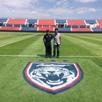 Siap install, #JDT logo at pitch 1st in Malaysia,   works by creativist_by_uss  for #Johor http://t.co/whevZT4gmy