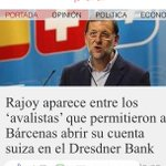 ¡Q raro! Rajoy,entre los avalistas q permitieron a Bárcenas abrir su cuenta suiza en el Dresdner Bank #EsAhora31E http://t.co/0szbDZLYdT