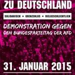 #Bremen 31. Januar 2015, 13 Uhr: Demonstration gegen den Bundesparteitag der #AfD. Es geht bald los! #NoAfD http://t.co/VYMsRU3ags